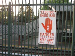 Danger Warning Electric Third Rail sign