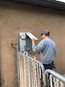 Site Surveyor electrical panel and electric meter
