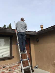 Site Surveyor checks roof for solar suitability