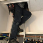 Site Surveyor exits into attic